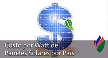 Costo por Watt de Paneles Solares por País