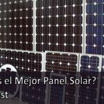cuál es el mejor panel solar 0