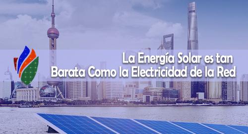 La Energía Solar es tan Barata Como la Electricidad de la Red